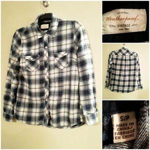 Original Vintage Weatheroof Plaid ButtonUp Shirt